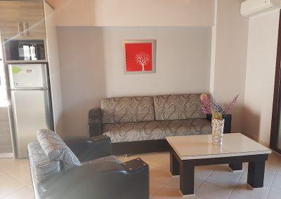 Sofa Living Room Villa Orestis Rooms Apartments Stoupa